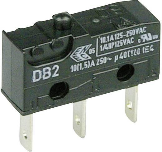 Cherry szubminiatűr karos mikrokapcsoló, 250V/AC, 1 váltó, csúszósarus, DB2C-B1AA