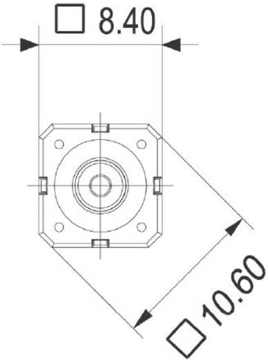 RAFI Nyomógomb RACON 8 0,02 - 42 V/DC/AC 0,01 - 100 mA 114100502