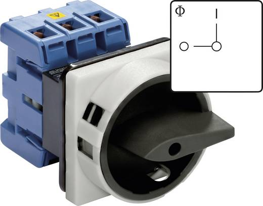Főkapcsoló E 0 állásban lakattal lezárható 7,5 kW Kraus & Naimer KG20B T103/01