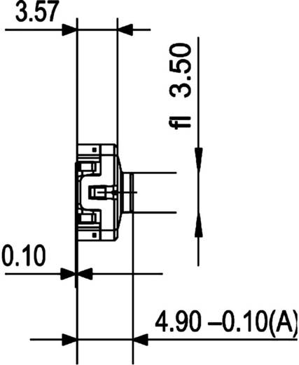 RAFI Nyomógomb RACON 8 0,02 - 42 V/DC/AC 0,01 - 100 mA 114100503