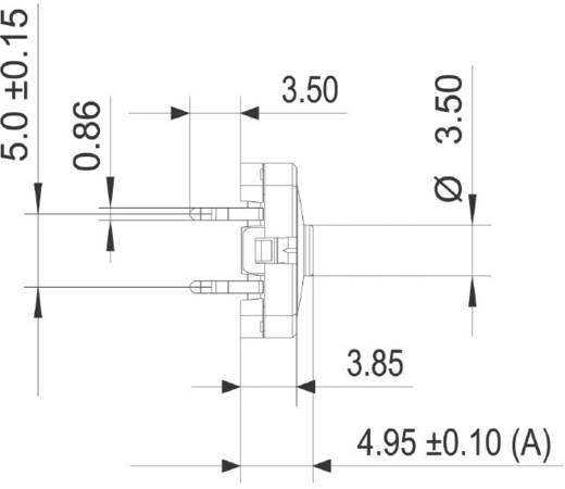 RAFI Gomb RACON 12 0,02 - 42 V/DC/AC 0,01 - 100 mA 114001502