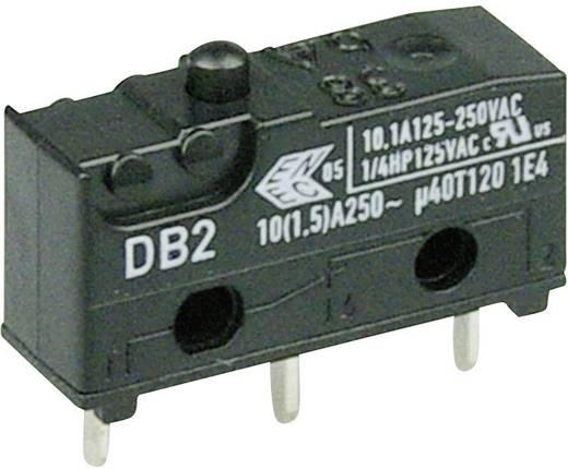 Cherry szubminiatűr karos mikrokapcsoló, 250V/AC, 1 váltó, nyákba forrasztós, DB2C-C1AA