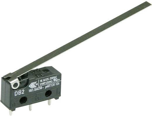 Cherry szubminiatűr karos mikrokapcsoló, 250V/AC, 1 váltó, nyákba forrasztós, DB2C-C1LD