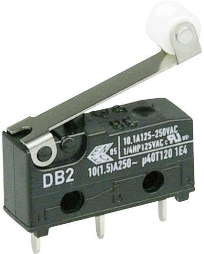 Cherry szubminiatűr karos mikrokapcsoló, 250V/AC, 1 váltó, nyákba forrasztós, DB2C-C1RC