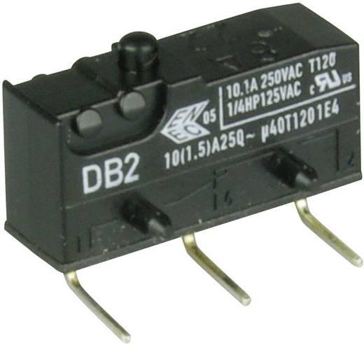 Cherry szubminiatűr karos mikrokapcsoló, 250V/AC, 1 váltó, nyákba forrasztós, DB2C-D2AA