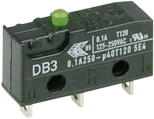 Cherry szubminiatűr mikrokapcsoló, 250V/AC, 1 váltó, forrasztós, DB3C-A1AA