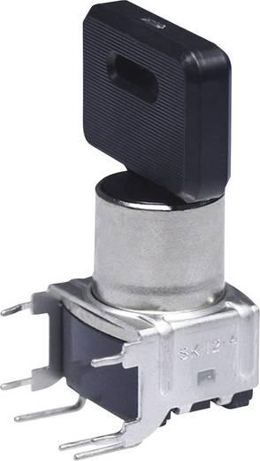 Kulcsos kapcsoló 28 V/DC/AC 100 mA, NKK Switches SK14DG30 3 x 45 °