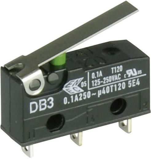 Cherry szubminiatűr mikrokapcsoló, 250V/AC, 1 váltó, forrasztós, DB3C-A1LB