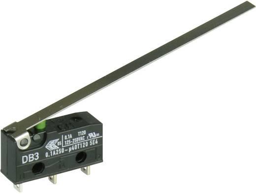 Cherry szubminiatűr mikrokapcsoló, 250V/AC, 1 váltó, forrasztós, DB3C-A1LD