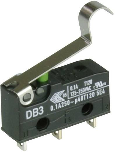 Cherry szubminiatűr mikrokapcsoló, 250V/AC, 1 váltó, forrasztós, DB3C-A1SC