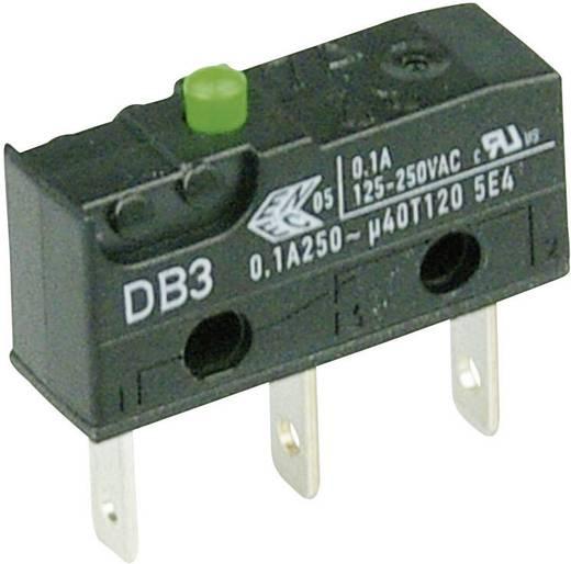 Cherry szubminiatűr mikrokapcsoló, 250V/AC, 1 váltó, csúszósarus, DB3C-B1AA