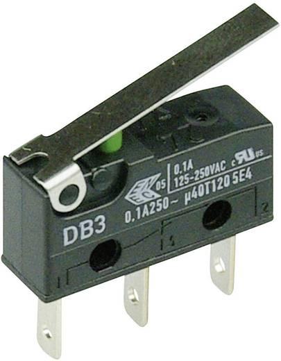 Cherry szubminiatűr mikrokapcsoló, 250V/AC, 1 váltó, csúszósarus, DB3C-B1LC