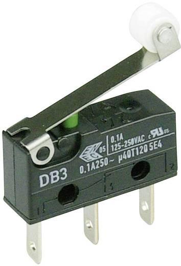 Cherry szubminiatűr mikrokapcsoló, 250V/AC, 1 váltó, csúszósarus, DB3C-B1RC