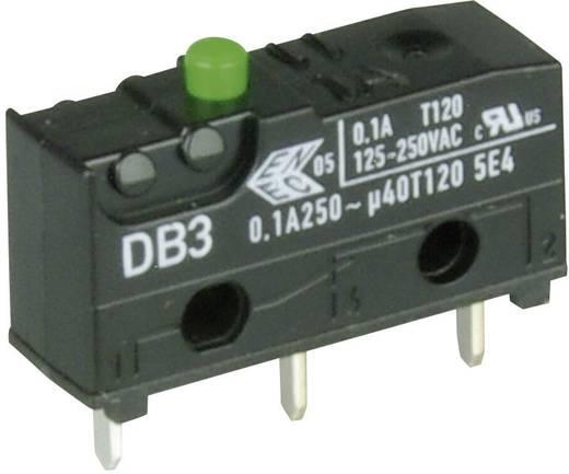 Cherry szubminiatűr mikrokapcsoló, 250V/AC, 1 váltó, nyákba forrasztós, DB3C-C1AA