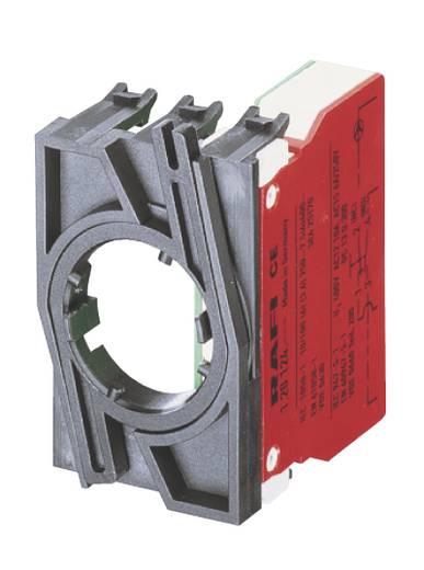 Érintkezőelem 1 nyitó, 1 nyitó nyomó 35 V RAFI 1.20.125.103/0000 5 db