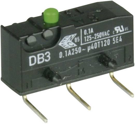 Cherry szubminiatűr mikrokapcsoló, 250V/AC, 1 váltó, nyákba forrasztós, DB3C-D2AA