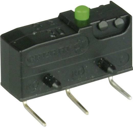 Cherry szubminiatűr mikrokapcsoló, 250V/AC, 1 váltó, nyákba forrasztós, DB3C-D3AA