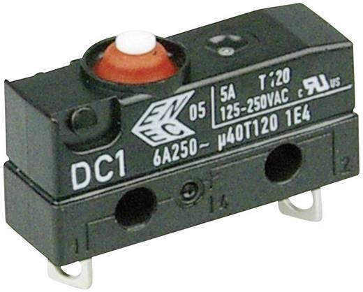 Szubminiatűr kapcsoló, 250 V/AC 1 nyitó Forrasztható csatlakozás 250 V/AC IP67 Cherry Switches DC1 DC1B-A1AA