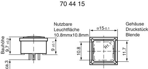 RAFI Nyomógomb RF 15 megvilágítva 0,02 - 42 V/DC/AC 0,01 - 100 mA 3.14200.011 billenő érintkező