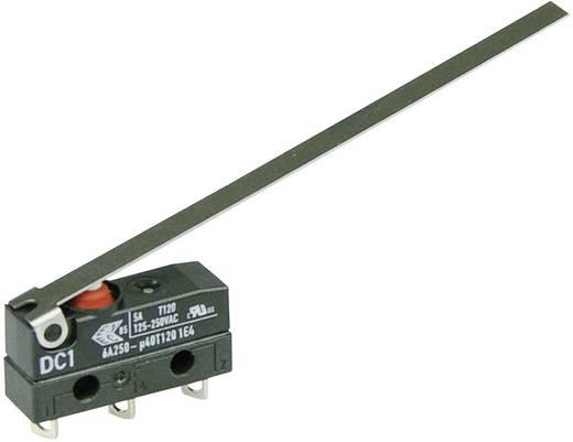 Szubminiatűr kapcsoló, 250 V/AC 1 váltó forrasztható csatlakozás 250 V/AC IP67 Cherry Switches DC1C-A1LD