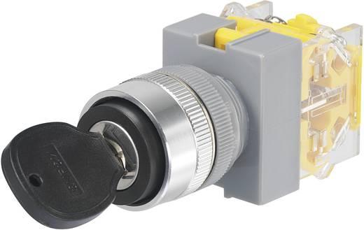 Kulcsos kapcsoló, 250 V/AC, 5 A, 2 x 90 ° beépítési Ø 22 mm Conrad Y090-A-11Y/23