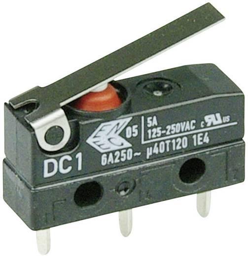 Szubminiatűr kapcsoló, 250 V/AC 1 váltó Áramköri lap csatlakozó 1,3 x 0,5 mm 250 V/AC IP67 Cherry Switches DC1C-H1LB