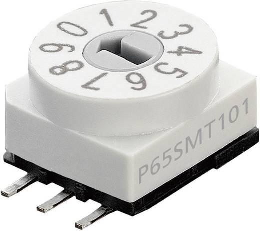 Forgó kódkapcsoló P65SMT 101 10 jegyű BCD