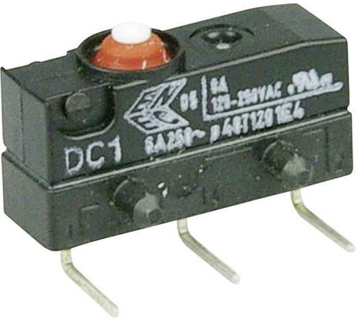 Szubminiatűr kapcsoló, 250 V/AC 1 váltó 0,6 x 0,5 mm, jobbos 250 V/AC IP67 Cherry Switches DC1C-K8AA