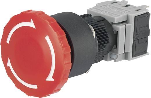 Vészkikapcsoló, 250 V/AC 5 A 1 záró, 1 nyitó beépítési Ø 16 mm Conrad LAS1 LAS1-BY-11TSA