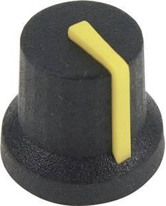 Forgatógomb, fekete/sárga, (Ø x Ma) 16.8 x 14.5 mm, Cliff CL170845CR, 1 db  Cliff