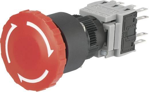 Vészkikapcsoló, 250 V/AC 5 A 3 záró, 3 nyitó Beépítési Ø 16 mm Conrad LAS1 LAS1-BY-33TSA