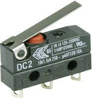 Szubminiatűr kapcsoló, 250 V/AC 1 váltó Forrasztható csatlakozás IP67 Cherry Switches DC2 DC2C-A1LB (DC2C-A1LB) Cherry Switches
