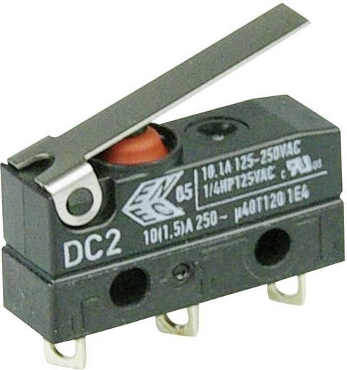 Szubminiatűr kapcsoló, 250 V/AC 1 váltó Forrasztható csatlakozás IP67 Cherry Switches DC2 DC2C-A1LB