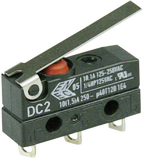 Szubminiatűr kapcsoló, 250 V/AC 1 váltó Forrasztható csatlakozás IP67 Cherry Switches DC2C-A1LC