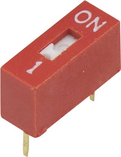 DIP kapcsoló a működtető süllyesztve Pólusszám 1 24 V/DC 100 mA Conrad DRS DSR-01 Slide