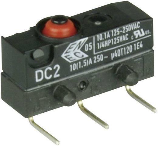 Szubminiatűr kapcsoló, 250 V/AC 1 váltó 0,6 x 0,5 mm, jobbos IP67 Cherry Switches DC2C-K8AA