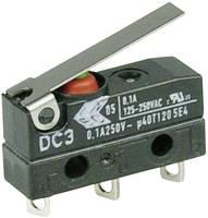 Szubminiatűr kapcsoló, 250 V/AC 1 váltó Forrasztható csatlakozás IP67 Cherry Switches DC3C-A1LB (DC3C-A1LB) Cherry Switches