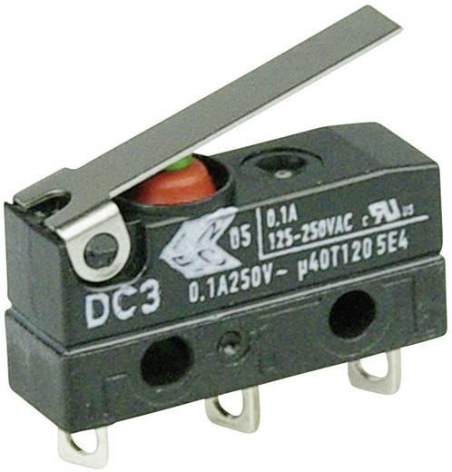 Szubminiatűr kapcsoló, 250 V/AC 1 váltó Forrasztható csatlakozás IP67 Cherry Switches DC3C-A1LB