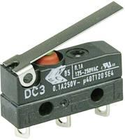 Szubminiatűr kapcsoló, 250 V/AC 1 váltó Forrasztható csatlakozás IP67 Cherry Switches DC3C-A1LC (DC3C-A1LC) Cherry Switches