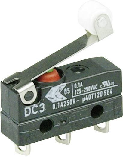 Szubminiatűr kapcsoló, 250 V/AC 1 váltó Forrasztható csatlakozás IP67 Cherry Switches DC3C-A1RB
