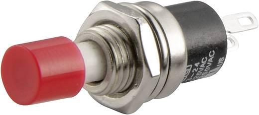 SCI miniatűr nyomógomb, 1,5 A 250 V/AC, 1 x ki, piros, R13-24A1-05