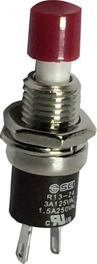 Nyomógomb 250 V/AC 1.5 A 1 x BE/(KI) SCI R13-24B1-05 RD Nyomó 1 db