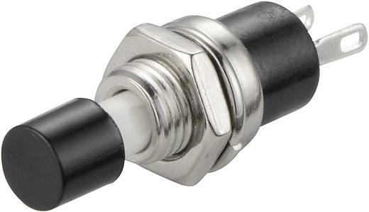 SCI miniatűr nyomógomb, 1,5 A 250 V/AC, 1 x ki, fekete, R13-24A1-05
