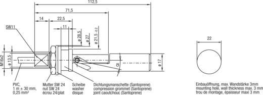 Úszókapcsoló, záró vagy nyitó (beépítési helyzet szerint) 1 A/250 V DC/AC Elobau 207KS12D
