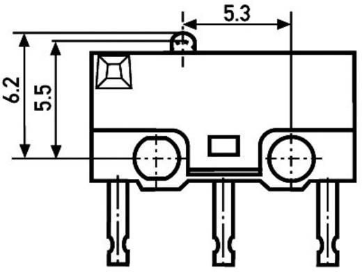 Mikrokapcsoló 250 V/AC 1.5 A 1 x BE/(BE) Sai