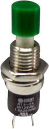 SCI miniatűr nyomógomb, 1,5 A 250 V/AC, 1 x be, zöld, R13-24B1-05