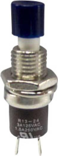 SCI miniatűr nyomógomb, 1,5 A 250 V/AC, 1 x be, kék, R13-24B1-05