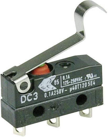 Szubminiatűr kapcsoló, 250 V/AC 1 váltó Forrasztható csatlakozás IP67 Cherry Switches DC3C-A1SC