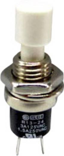 SCI miniatűr nyomógomb, 1,5 A 250 V/AC, 1 x be, fehér, R13-24B1-02