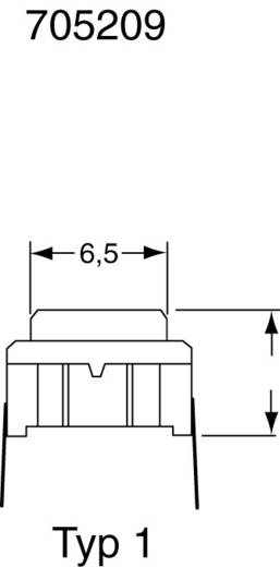 MEC Miniatűr nyák nyomógomb, Multimec 3ETL9-12.0 1 x ki/(be) 24 V/DC 50 mA